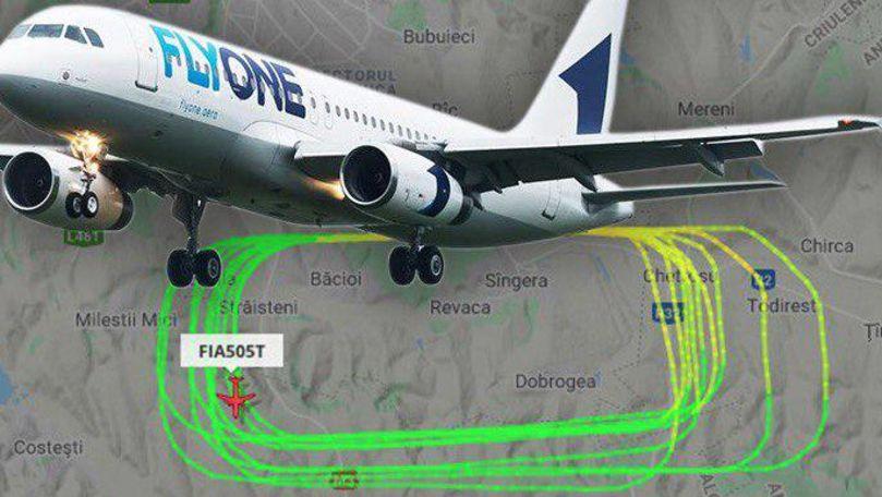 Avion Fly One, surprins cum zboară în cercuri deasupra Chișinăului