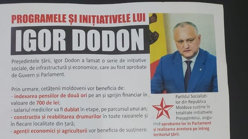 Dodon și PSRM au început campania electorală. Cu ce proiecte se laudă