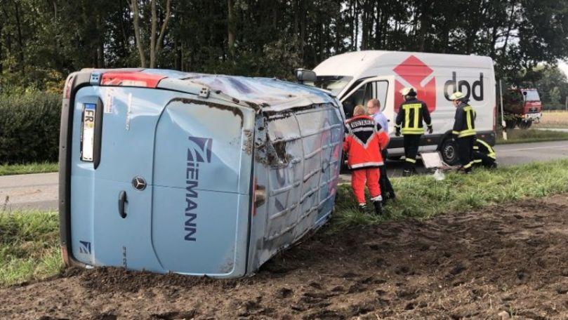Germania: Un moldovean a răsturnat o mașină ce transporta două milioane de euro