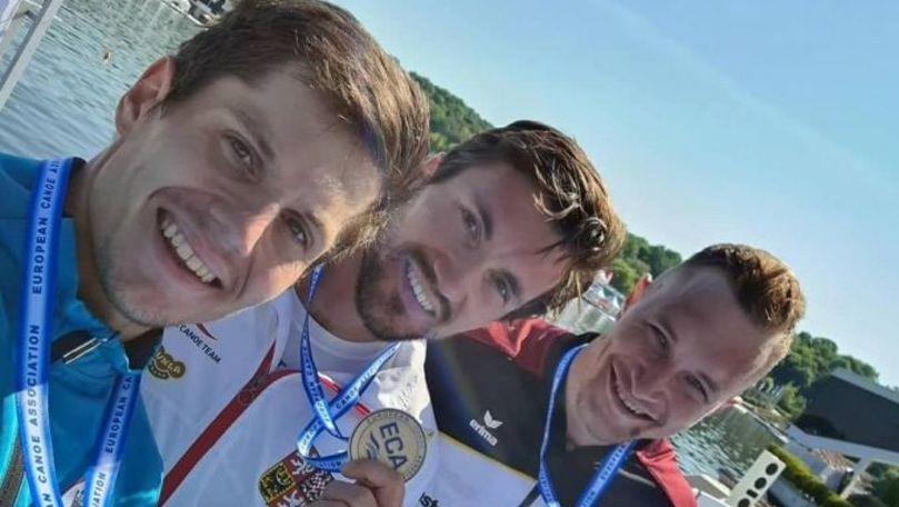 Canotorul Serghei Tarnovschi a devenit vicecampion european