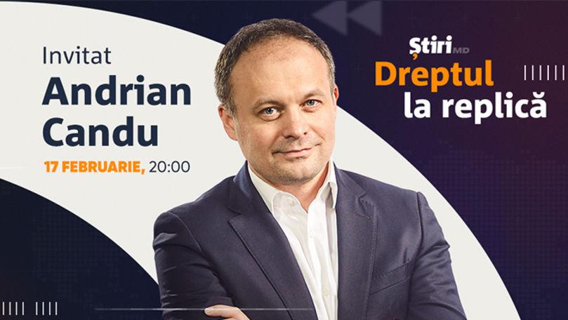 Andrian Candu, invitatul emisiunii Dreptul la Replică de la Știri.md