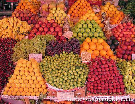 Фрукты и овощи в турции в мае