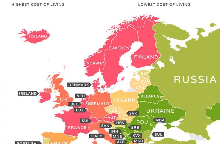 Молдова в рейтинге самых дорогих и самых дешевых для жизни стран