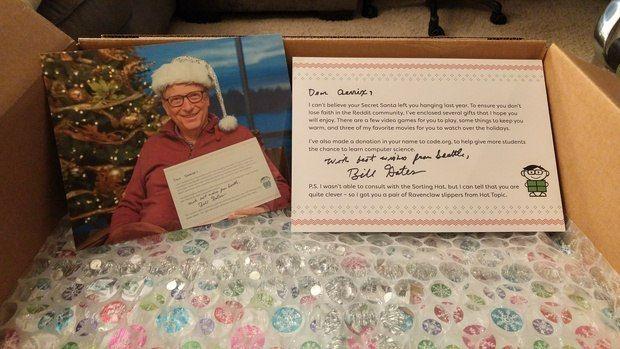 37 кг подарков: когда твой «тайный Санта» – Билл Гейтс