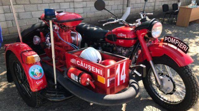 В Молдове появился первый пожарный мотоцикл