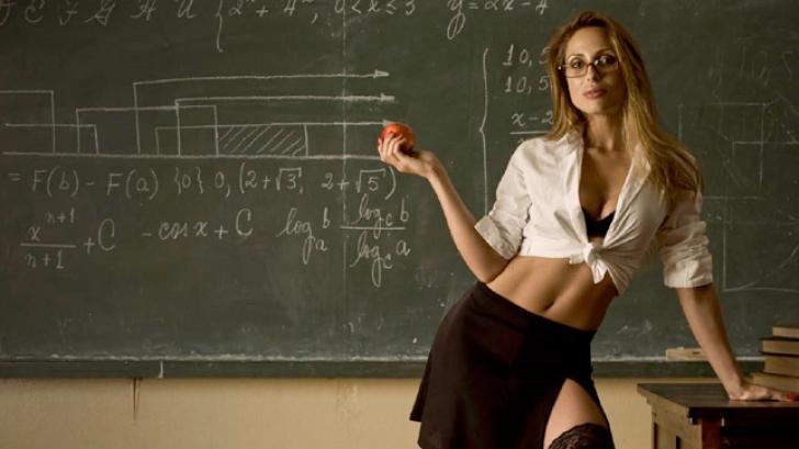 Секс с красивой молодой училкой