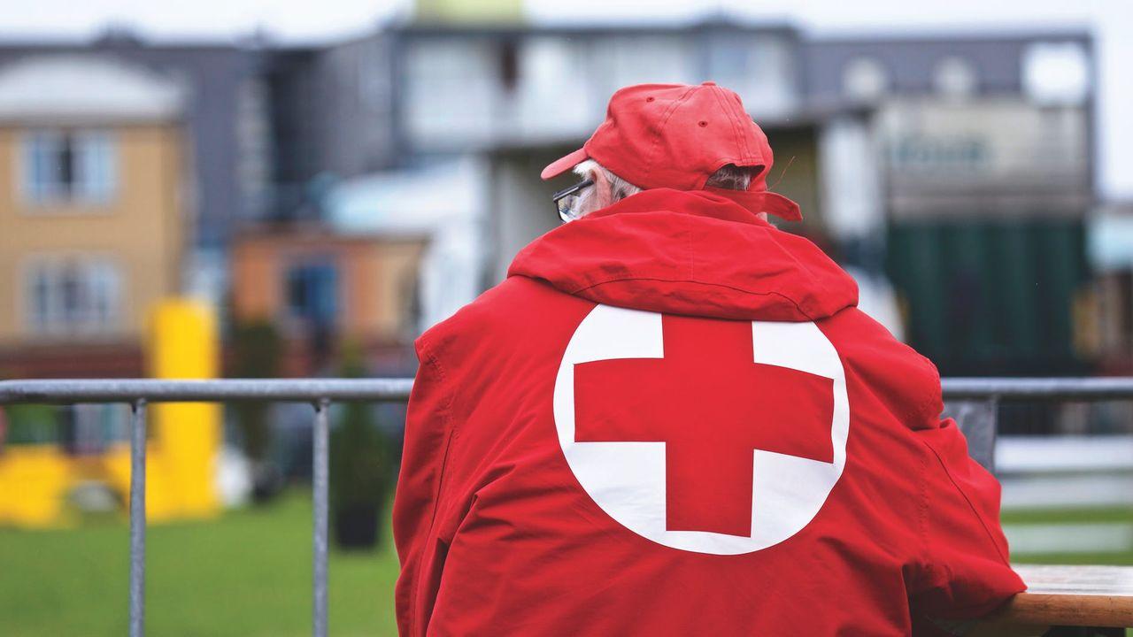 фото с красным крестом объединяются группировки