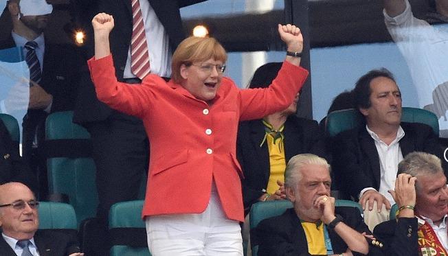 чм по футболу, меркель