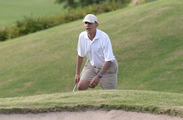 обама, гольф