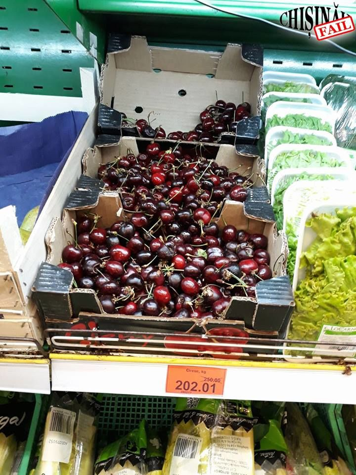 В Кишиневе продают черешню по 202 лея за кг