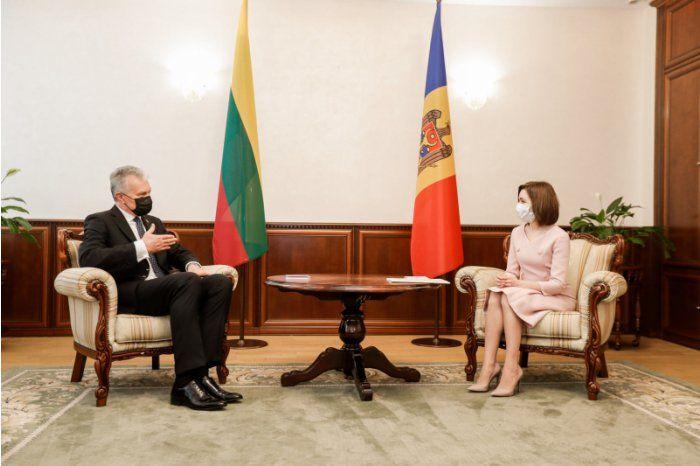 Майя Санду провела встречу с президентом Литвы Гитанасом Науседа