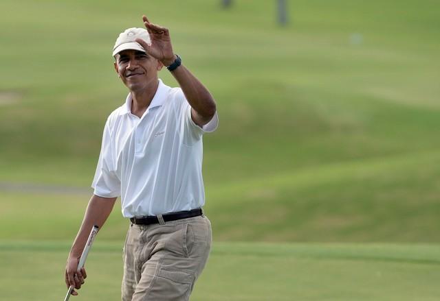 гольф, обама