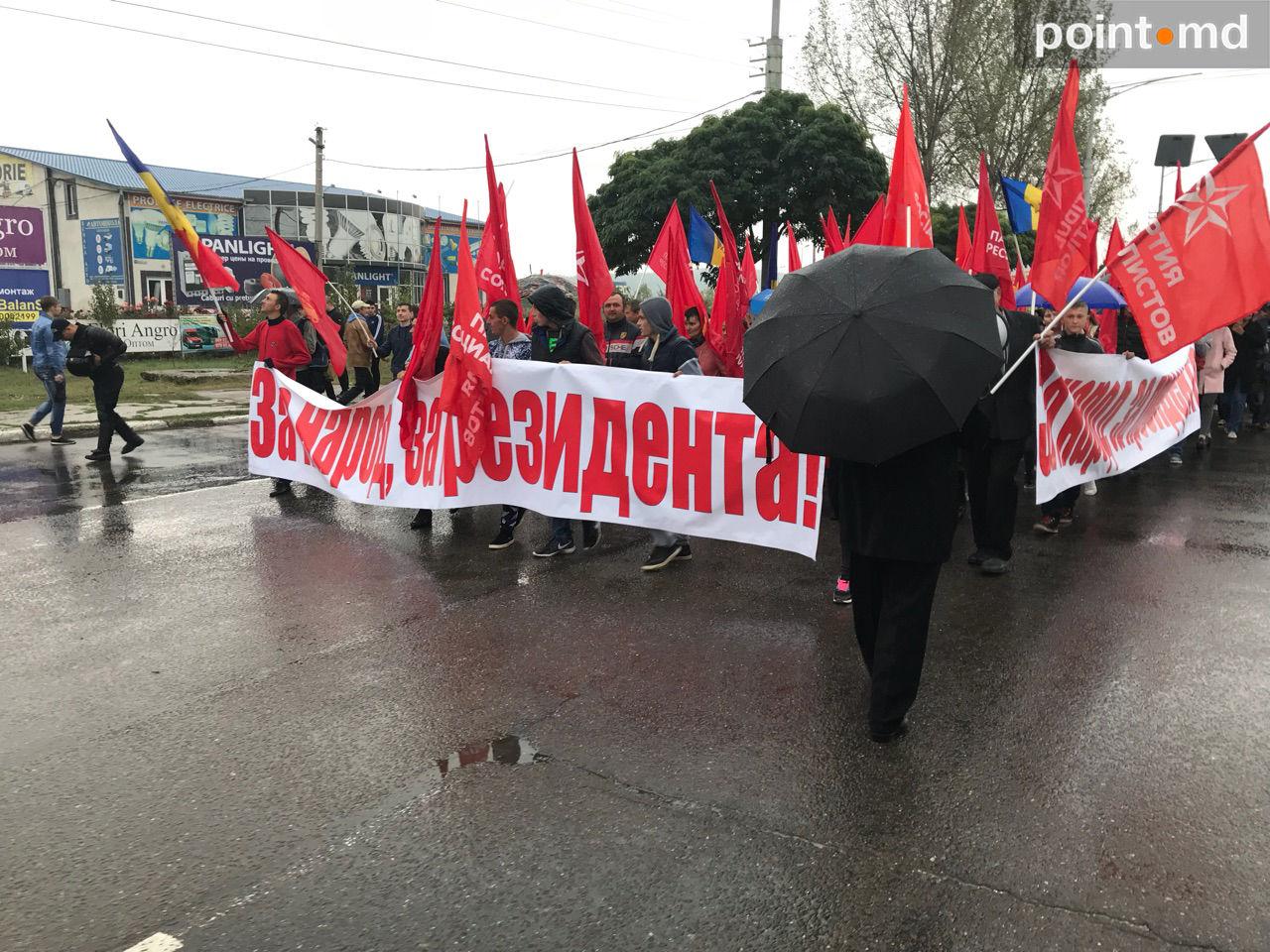 Акции протеста приверженцев Додона вМолдавии