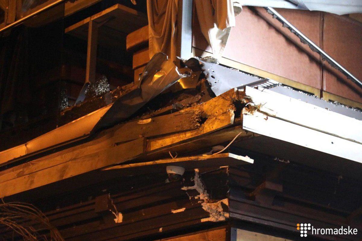 В центре Киева стреляли из гранатомета
