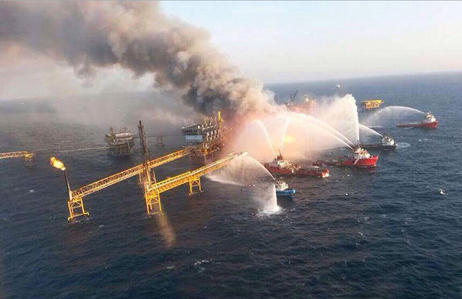 взрыв, нефть