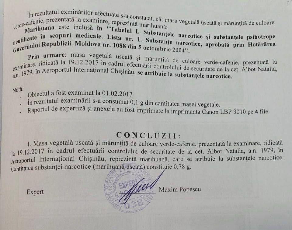 СМИ: Кандидат, задержанный с наркотиками, - Ната Албот