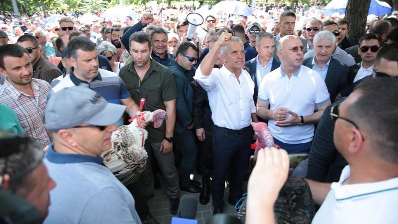 Среди сторонников ДПМ, бросавших индеек, был директор винзавода Mileștii Mici
