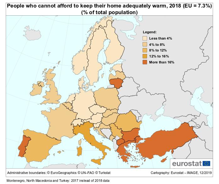 Треть жителей Болгарии не могут позволить себе обогрев жилья