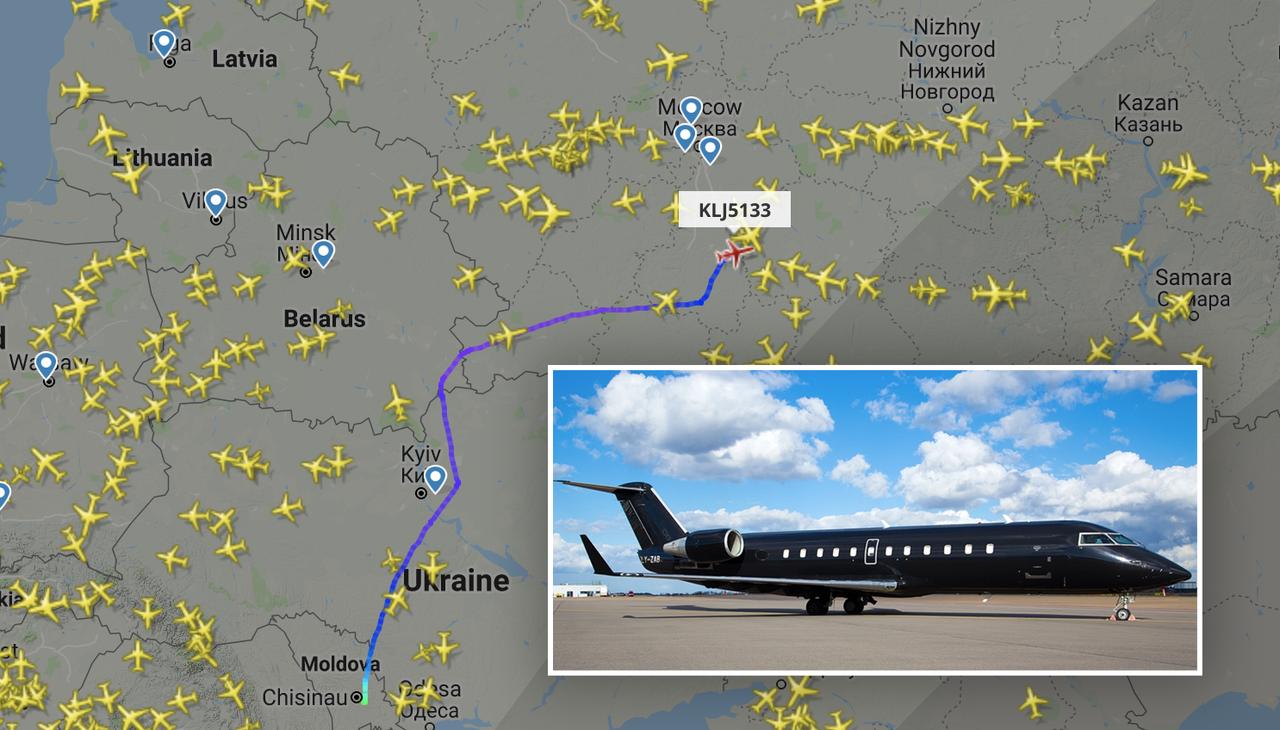 Один из частных самолетов улетел из Кишинева в Москву