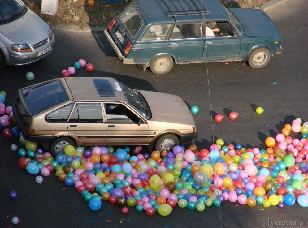 флешмоб, шарики