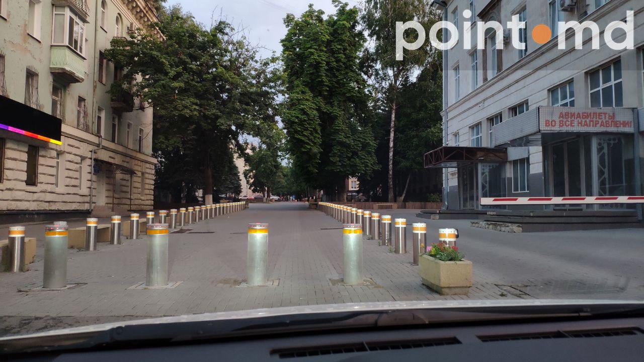 Возле офиса ДПМ в центре Кишинева исчез постоянный патруль полиции