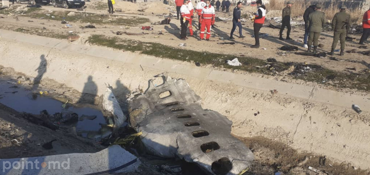 В Иране рухнул украинский лайнер со 167 пассажирами