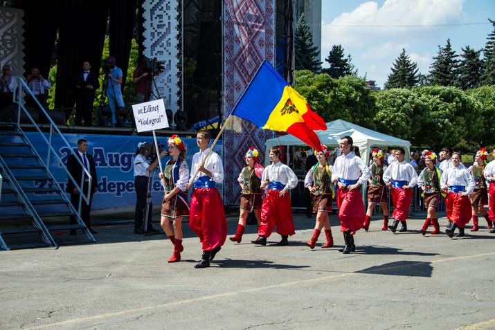 В Кишиневе состоялся парад национальных костюмов