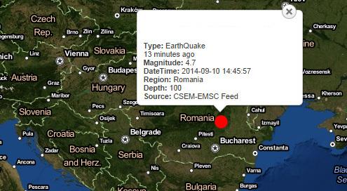 толчки, землетрясение