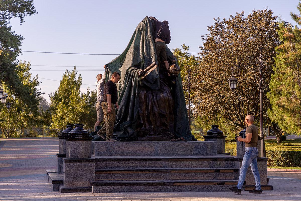 В Тирасполе установили памятник Екатерине II