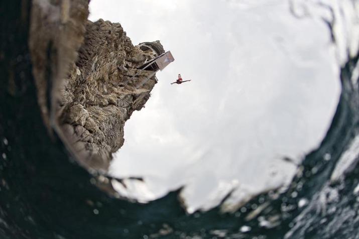 red bull cliff diving 2014, акробатические прыжки