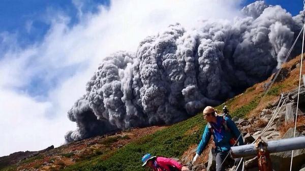 извержения вулкана, гора онтакэ