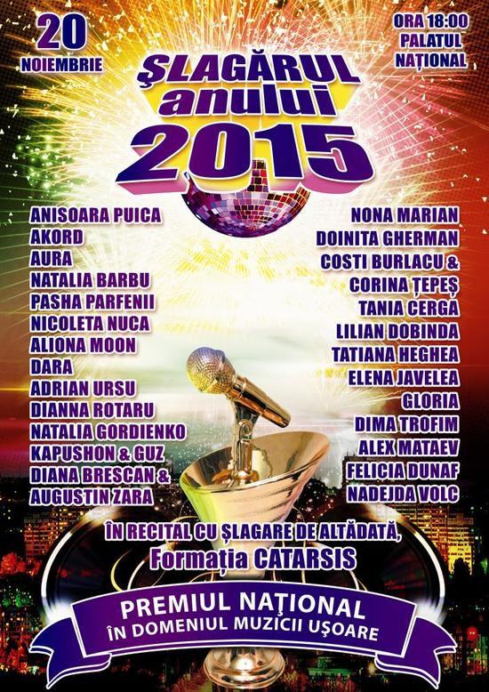 slagarul anului, concert