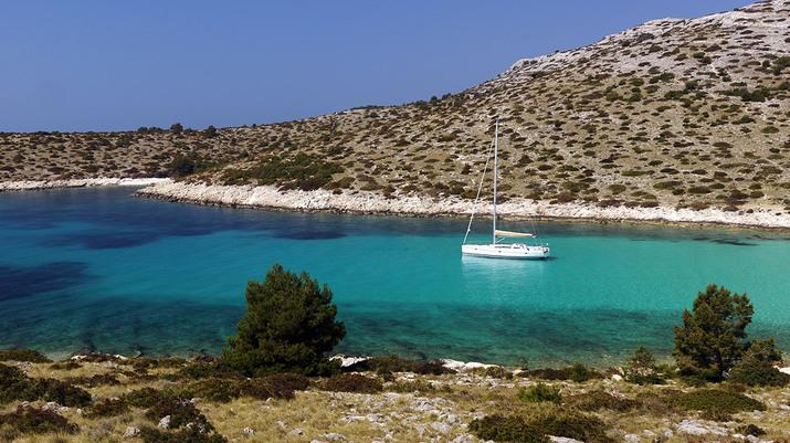 яхта, греция