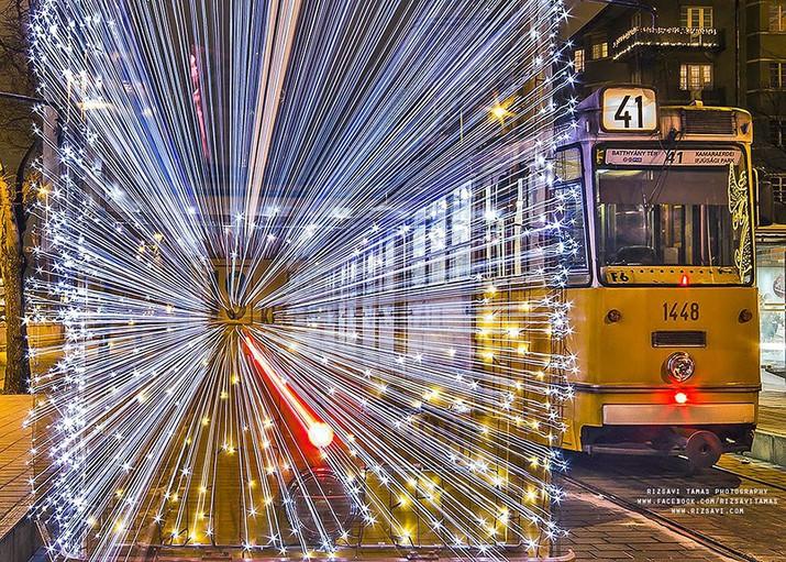 трамвай, свет