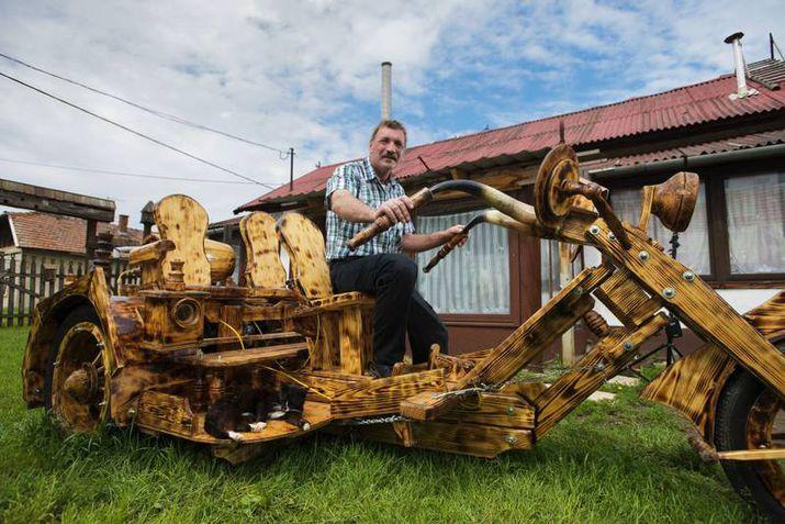 Деревянные трактора своими руками
