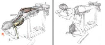 гиперэкстензия, упражнения