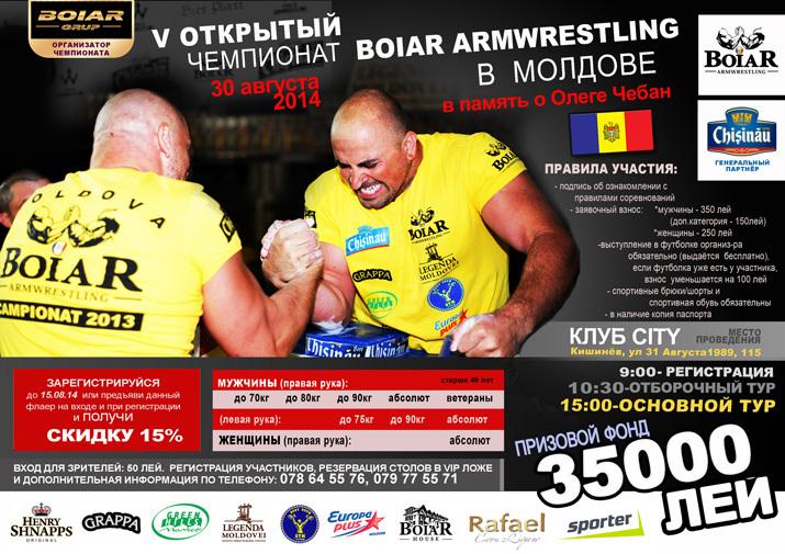 boiar armwrestling moldova, city
