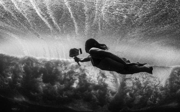 девушкисерферы, под водой