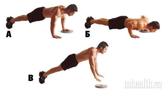 тренировки, грудь