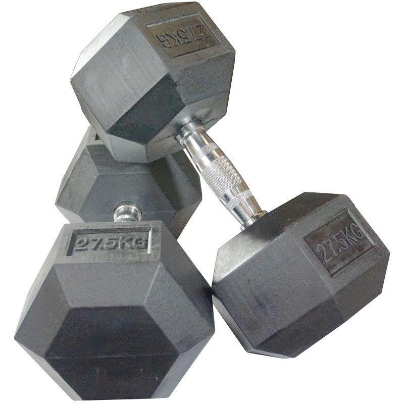 купить Gantera hexagonala Rubber Hex Dumbbells 27.5kg PX DB 139-27.5 в Кишинёве