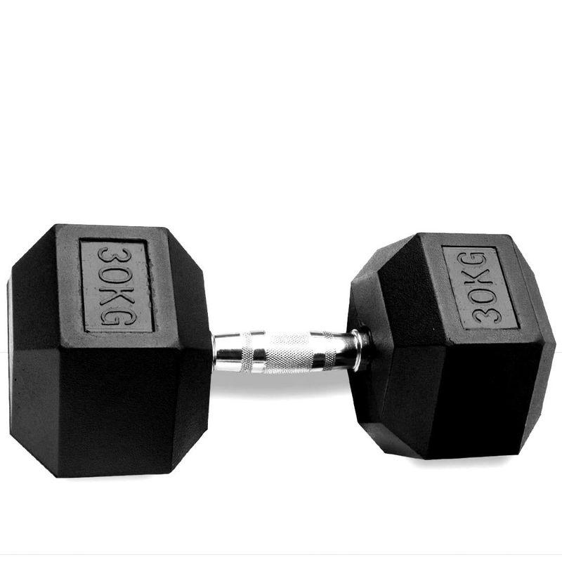 купить Гексагональная обрезиненная гантеля Rubber Hex Dumbbells 30kg PX DB 139-30 в Кишинёве