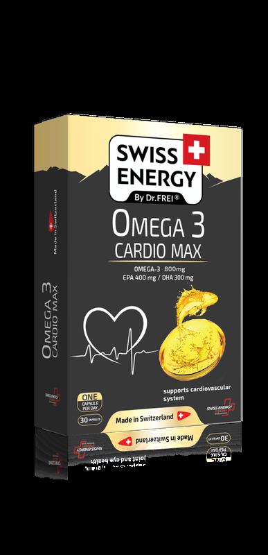 купить SWISS ENERGY OMEGA-3 CARDIO MAX, CAPSULE N30 в Кишинёве