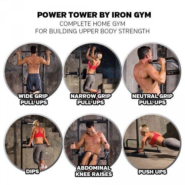 купить Силовая мультистанция Power Tower IRON GYM  art.10280 в Кишинёве