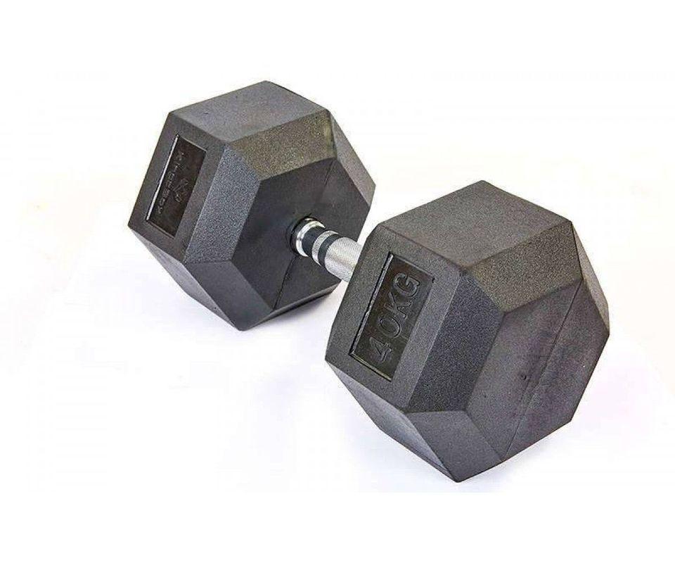 купить HDF DY-HD-150.40 Hex dumbbell  with rubber coated 40 kg в Кишинёве
