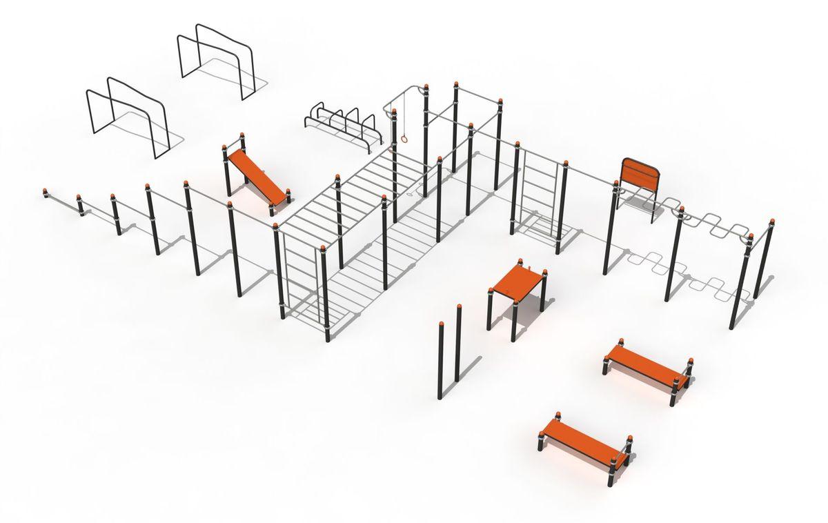 купить Уличный спорткомплекс Street Workout PTP 523-X art. 8087 в Кишинёве