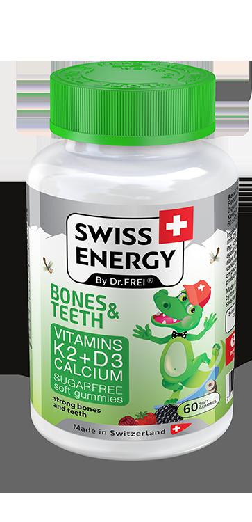 купить Swiss Energy BONES & TEETH, jeleuri gumate, N60 в Кишинёве