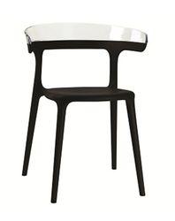 Кресло Luna (сиденье черный, спина прозрачный)