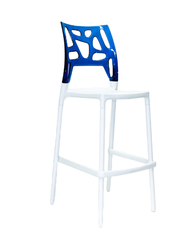Барный стул Ego Rock (белый/синий)