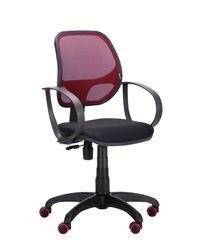 Кресло Bit, спина сетка bordo, сиденье сетка черный
