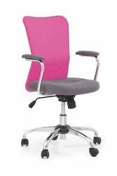Кресло ANDY (серый / розовый)